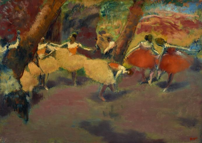 Degas, Edgar: Before the Performance. Fine Art Print/Poster. Sizes: A4/A3/A2/A1 (003739)
